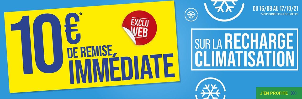 EXCLU WEB : 10€ de remise immédiate sur la recharge climatisation !