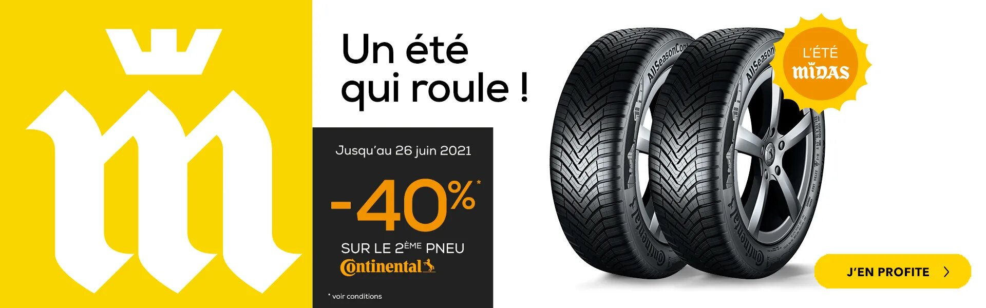 Profitez de -40% sur votre 2ème pneu Continental !